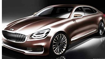 Kia Sketches Redesigned K900 Luxury Sedan