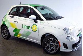 Lime Ends Car-Sharing Program