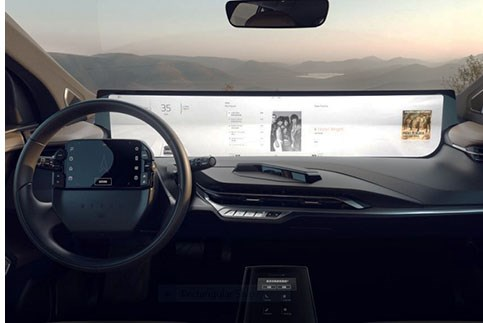 Byton Goes Big with 48-Inch Interior Display