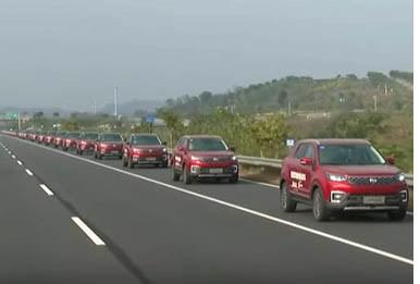China's Changan Demos 55 Autonomous Car Platoon
