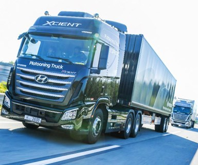 Hyundai Tests Truck Platooning