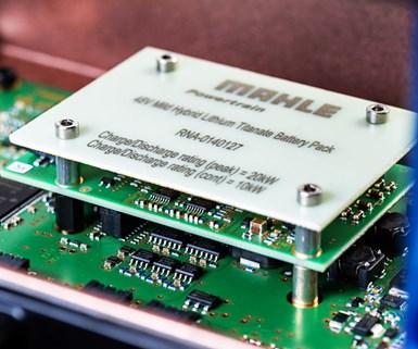 Mahle Touts Improved Mild-Hybrid Battery