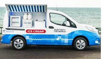 Nissan Demos Electric Ice Cream Truck