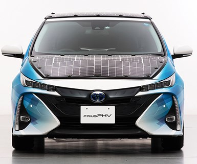 Toyota Tests Improved Solar Panels to Charge EVs