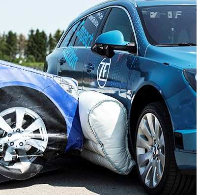 ZF Demos External Airbag for Side Impacts