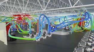 Vimek factory air flow simulation