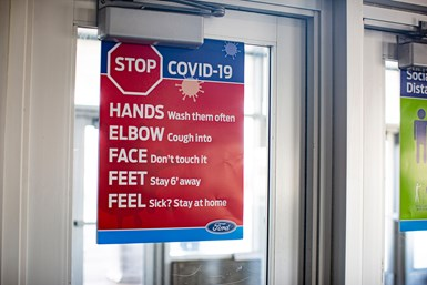 Ford COVID-19 sign