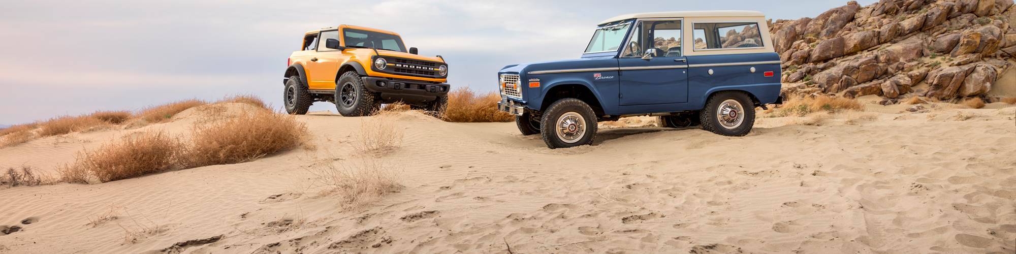 Ford Bronco 1966 and 2021