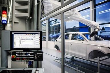 Durr AI software for automotive paint applications