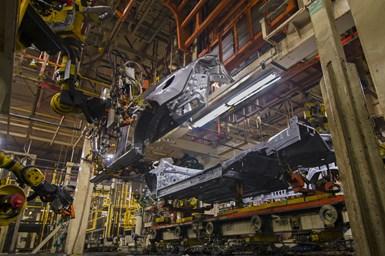 Nissan body assembly