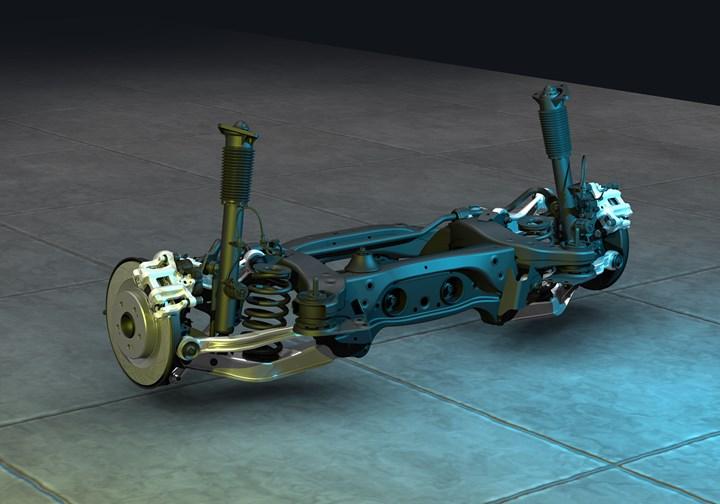 TLX rear suspension