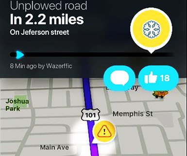 A New Waze Around Snow