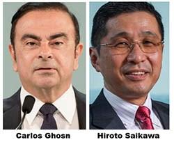 Nissan Cuts Compensation for Ghosn, Saikawa