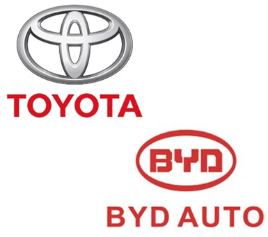 Toyota, BYD to Co-Develop EVs for China