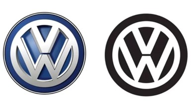 VW Logo Returns to 2D Look