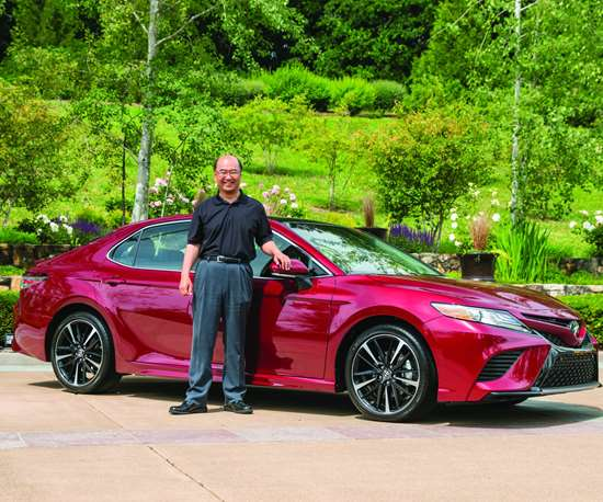 """Chief engineer Masato Katsumata: """"The new Camry is an extremely balanced machine with much more excitement and emotion than any model before it. It keeps you comfortable and fresh on long drives, while encouraging you to go faster on twisty roads."""""""