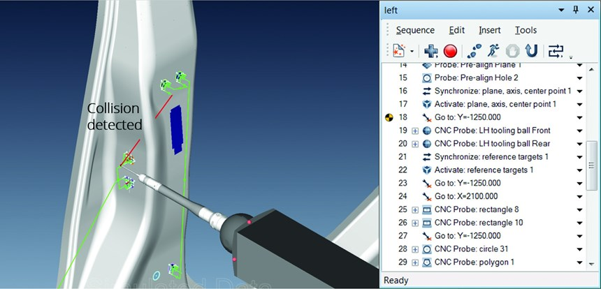 Real time collision analysis is standard in PolyWorks 2017, saving damage to components (whether the CMMs or the parts under inspection) as well as recalibrating the CMM.