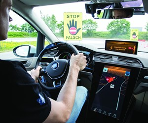 The ZF Vision Zero Vehicle. Based on a VW Sharan, it has an electric driveline and is equipped with sensors and systems that provide driver assistance and enhance overall safety.