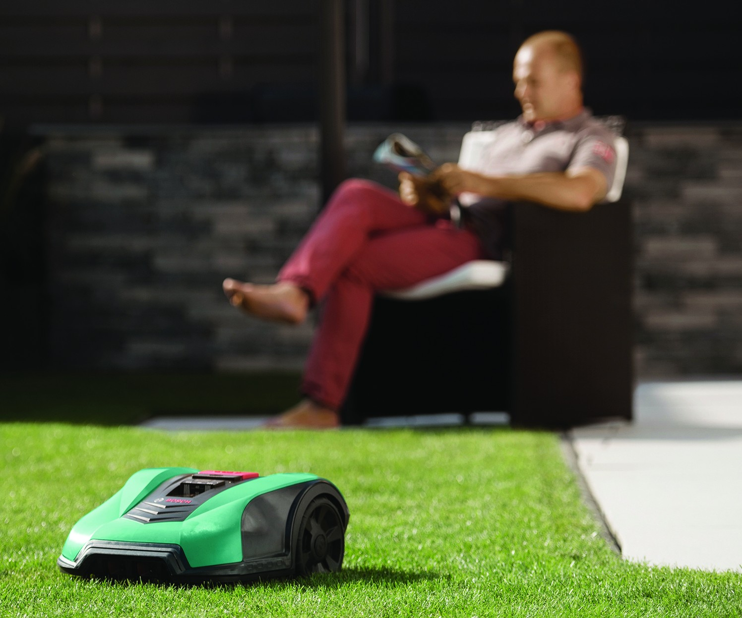Yes, this is a lawn mower. But not just any grass clipper. The Indego 400 Connect is able to determine the best path for cutting the lawn and then executing, but it is also smartphone-enabled. Tech like this can help with the development of the tech that will drive you to the golf course (because you don't need to be cutting your lawn because the robotic lawn mower is doing it for you).
