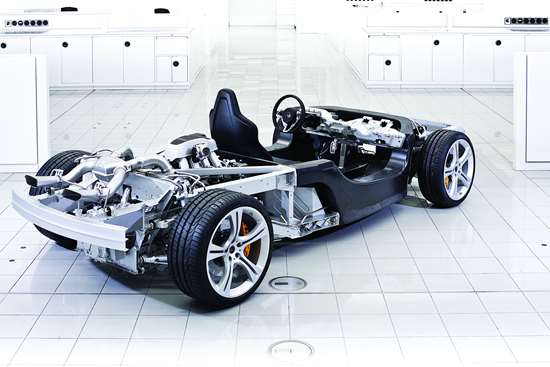 McLaren's Monocell carbon fiber tub first used on the MP4 12C, and was the starting point for all McLaren road cars to follow. Aluminum and/or steel was used for the upper structure until the P1 hybrid super car bonded a woven carbon fiber roof section to the tub to create the Monocage.