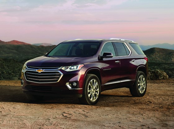 The all-new 2018 Chevy Traverse. Under the hood is a 310-hp, 3.6-liter V6 or a 255-hp, 2.0-liter turbocharged four mated to a Hydra-Matic nine-speed.