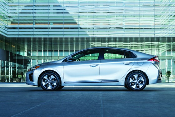 Hyundai engineers looked at mass reduction throughout the Ioniq, whether it took form of advanced high-strength steels in the body in white to using volcanic rock filler material for interior plastic components.
