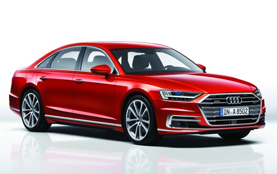 This is the fourth generation Audi A8. It is a mixed material construction, whereas the first generation, back in 1994, was aluminum-intensive.