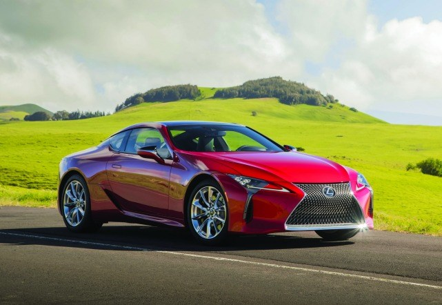 The Lexus LC 500. Lexus engineers deployed a full suite of materials, from steel to aluminum to carbon fiber.