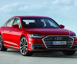The all-new Audi A8. For the first time, Audi is offering the car as a mild hybrid, standard.