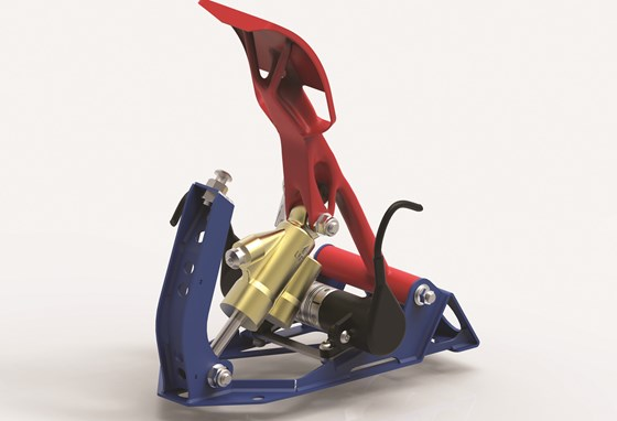 Generative modeling lets designers create interesting designs. For example, this gas pedal was designed by Craig Hall, owner of Hall Designs, with the latest version of Solid Edge and KeyShot 3D rendering and animation software.