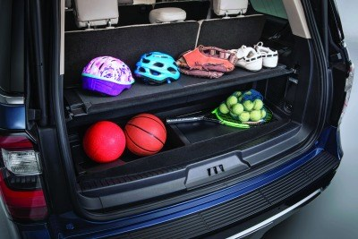 Let's face it: While some people don't want to take vehicles like minivans to soccer practice or other youth recreation, that's not a problem for sport utes. Ford has developed a clever cargo management system for the Expedition. It is worth noting that it works equally well for things like groceries.