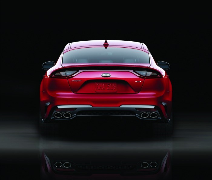 They worked to make the Stinger aerodynamic while maintaining occupant space, as well as keeping the costs down. Rather than going for a full deployable spoiler, note the kick on the back of the decklid, which helps reduce lift.