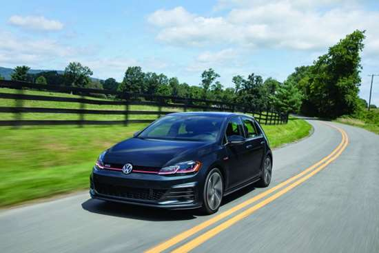 The VW GTI: this hot hatch is actually hotter in the U.S. market than the Golf it is based on.