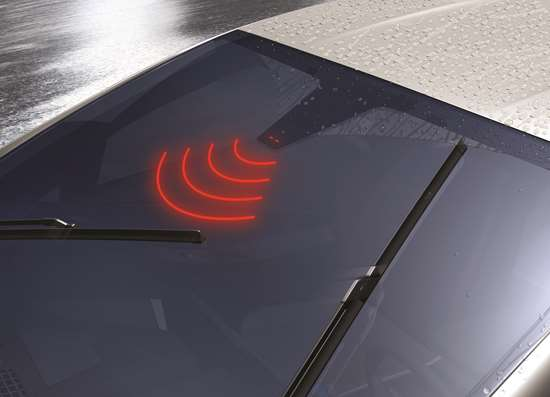 The photodiodes detect rain on a windshield by the amount of light received. The more rain, the less light.