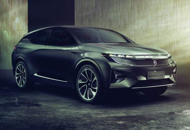 "The Byton crossover. While having a stylish exterior design, the company describes it as a ""smart device."" Which sort of undercuts the execution of the vehicle."