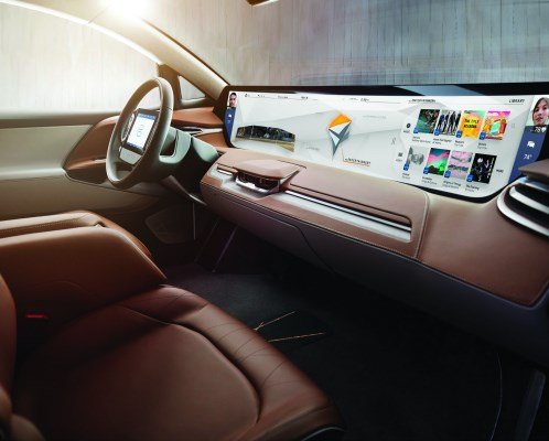 The 49 x 9.8-inch screen in the Byton. Everything from navigation to infotainment to vehicle information to blood pressure readings. And there is probably some digital real estate left over. In addition to which, there is a tablet for the driver and two screens for the rear passengers.