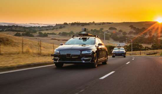 Part of the Aurora test fleet. Chris Urmson thinks that initially cameras, radar and LiDAR systems will all be deployed to assure that autonomous vehicles are fully aware of their surroundings, but as things progress that will change.