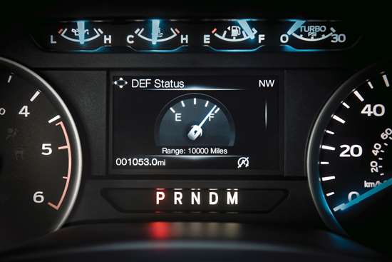 Selective catalyst reduction (SCR) uses urea as part of a three-stage after-treatment system that includes a diesel oxidation catalyst and diesel particulate filter. The amount of fluid remaining in the tank can be monitored through the Driver Information Center in the instrument cluster.