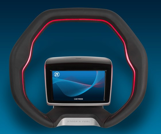 ZF has developed a steering wheel concept that facilitates Level 3 autonomous driving capabilities.
