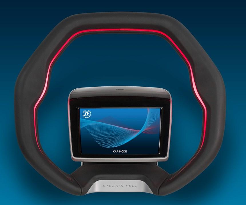 ZF has developed a steering wheel concept that facilitates Level 3 autonomous driving capabilities.