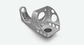 Direct metal laser sintered aluminum part