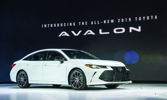 The 2019 Toyota Avalon was styled by Calty at its Ann Arbor, Michigan, facility and debuted at the 2018 NAIAS.