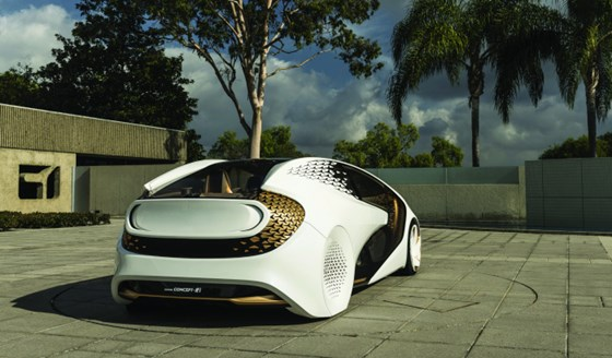 The Toyota Concept-i is a car of the future that people will actually drive (at least part of the time). It was styled by Calty in Newport Beach.