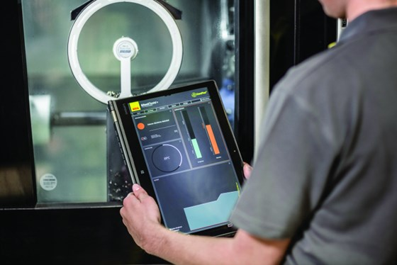 The Silent Tools+ dashboard, which works with sensors for in-cut tool monitoring, is part of the Sandvik Coromant CoroPlus system.
