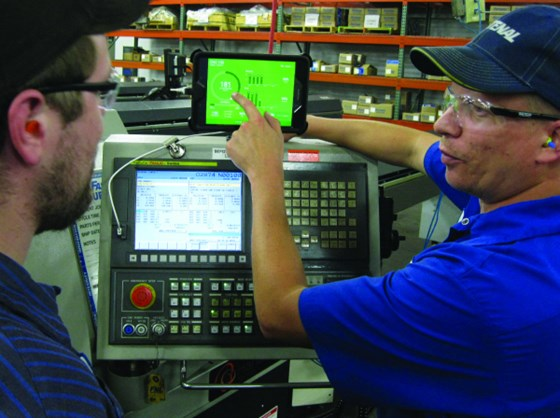 The MachineMetrics system tracks CNC machine activity and makes the most pertinent information visible and accessible.