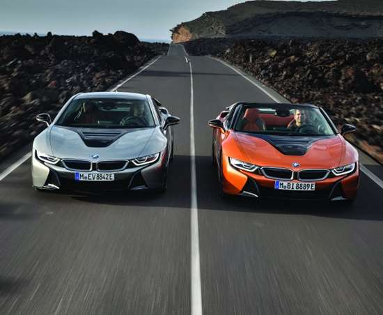 """The i8 Roadster and Coupe. """"We knew that when we made it, we'd have to make it iconic,"""" Dukec says."""