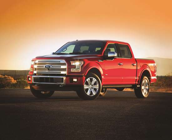 "The 2015 F-150: ""High-strength, military-grade, aluminum alloys —already used in aerospace—are used throughout the F-150 body for the first time, improving dent and ding resistance and saving weight."" Those alloys also got the steel industry to be exceedingly concerned, given the massive popularity of the F-Series."
