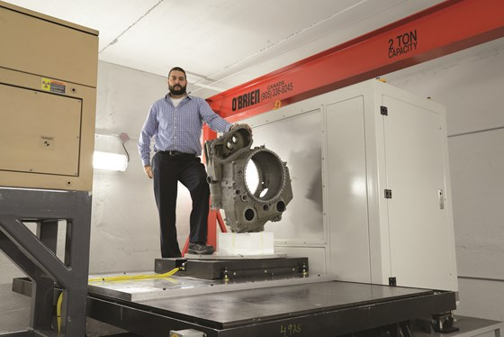 Jesse Garant Metrology Center's high-energy CT scanning service enables the scanning of large castings in less than an hour.