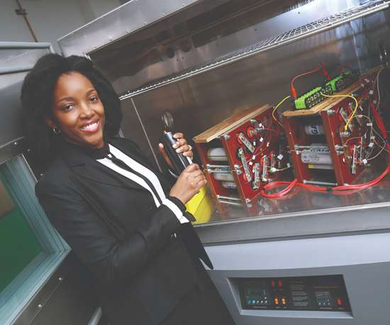 Ngalula Mubenga, an electrical engineer at the University of Toledo, has developed an alternative technology designed to equalize battery power, an innovation that could lead to longer-life batteries for EVs.