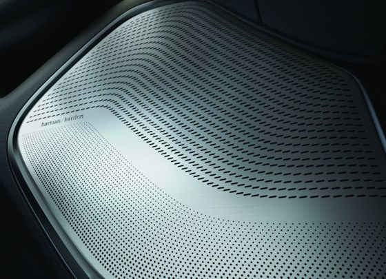 While a Harmon Kardon audio system with 19 speakers, a 900-watt surround sound amplifier, 10-inch subwoofer, and active noise cancelation might be expected in a luxury sedan, the competition within the pickup segment, as well as the demand for well-appointed trucks, puts this system in the Ram. Yes, even stainless-steel speaker grilles.